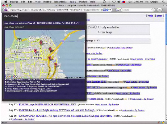 Step 3: Voila! Mapped listings. (Less clicking, more mapping!)