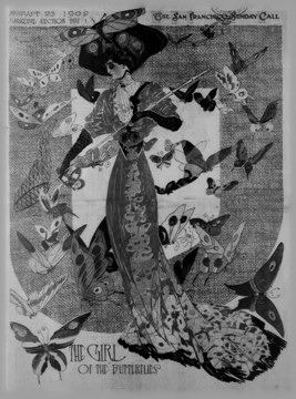 The Girl of the Butterflies, San Francisco Sunday Call, August 23, 1908